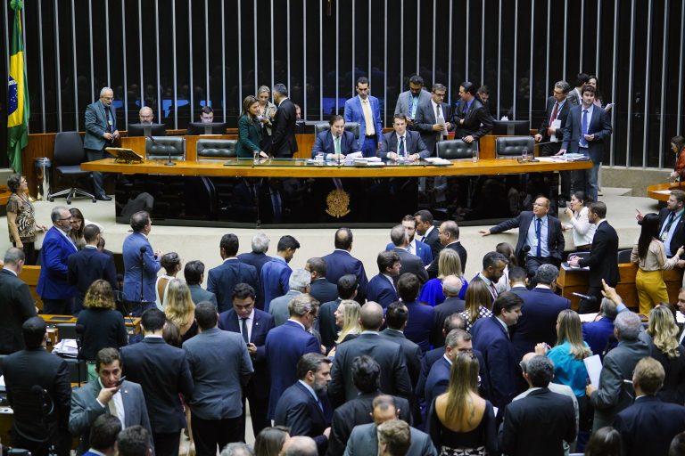 Câmara dos Deputados em votação da Lei de Abuso de Autoridade